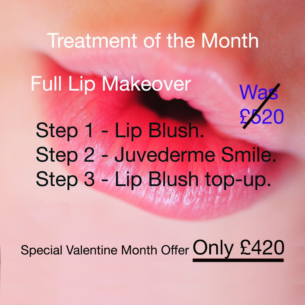 lips offer treamenty of the month at La Belle Forme February 2017