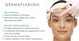 Dermaplaning offer at La Belle Forme May 2017